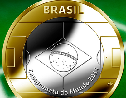 1 Real World Cup 2014 coin