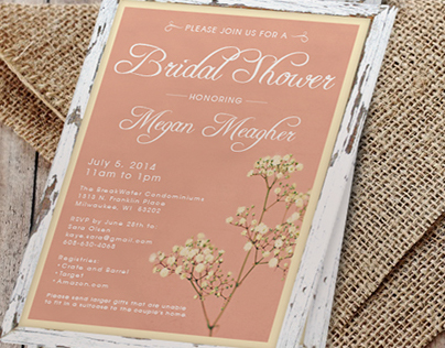 Megan Meagher Bridal Shower Invitations