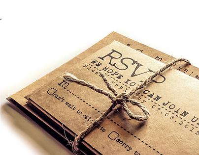 Typewriter Wedding Invitation set