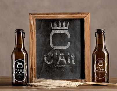 C'Alt beer bottle