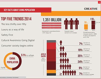 Infographics for company presentation