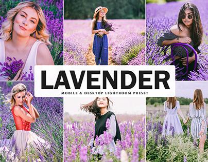 Free Lavender Mobile & Desktop Lightroom Preset