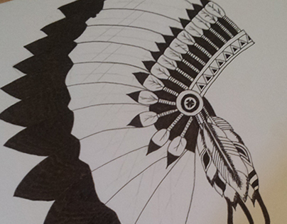 Native Americans Headdress Illustrations