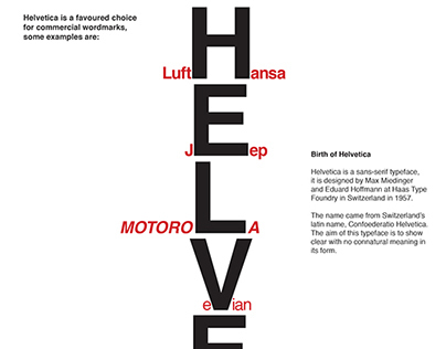 Celebrating Helvetica | A Typeface Poster