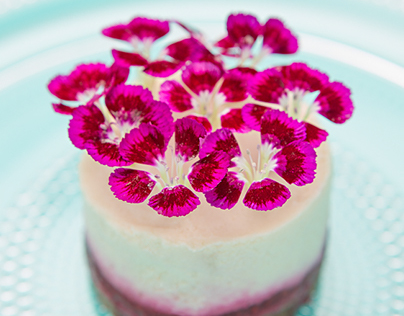 Vegan Flower Cheesecake