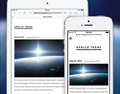 Apollo tumblr theme