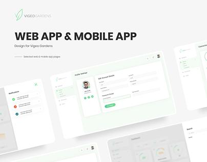 Vigeo Gardens - App Design