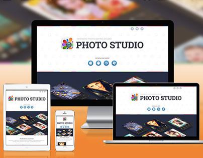 Photo Studio - responsive landing page