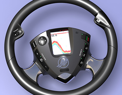 Steering wheel concept for marine application