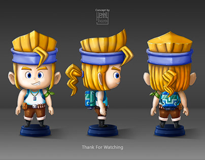 2D Character Concept ( Render Color with 3D Style )