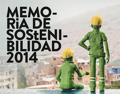Memoria de Sostenibilidad Metro de Medellín 2014