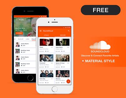 SoundCloud Redesign - Material Design Concept