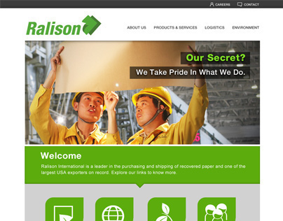 Ralison Int. Website and Logo
