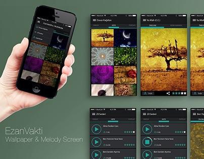 EzanVakti Pro / Wallpaper&Melody App Design