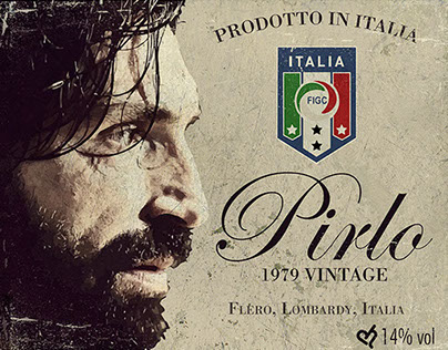 Pirlo Vintage Style Poster