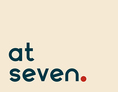At Seven cafe brand identity