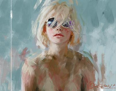 Portrait study with sunglasses