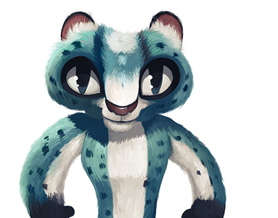 Snow Leopard Character Design