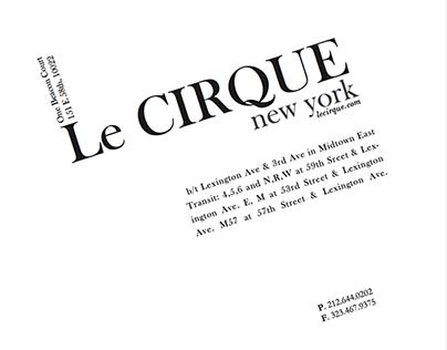 Le Cirque   Typographic Morphing