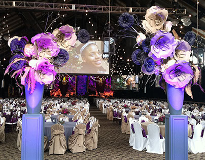 """Giant Paper Florals """"Bloom"""" Gala, Minneapolis MN."""