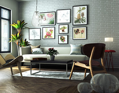 A Living Room in A Small Apartment