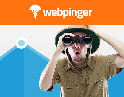 Webpinger website and logo