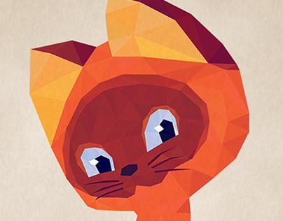 Low Poly Kitten Named Gav / Котёнок по имени Гав