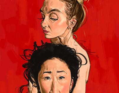 Killing Eve Caricature