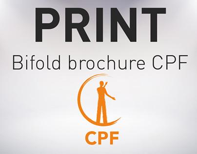 PRINT / Plaquette CPF
