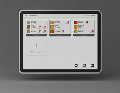 SEVA : Tablet for Small Indian Grocery Stores