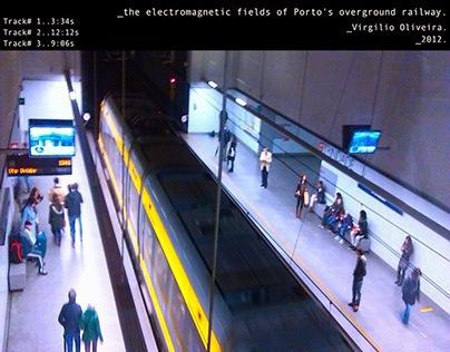 electromagnetic fields in Porto's overground railway