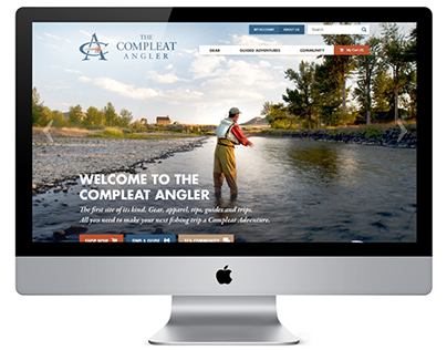 The Compleat Angler Website Design