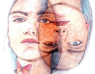 Upsidedown - Watercolor Illustration