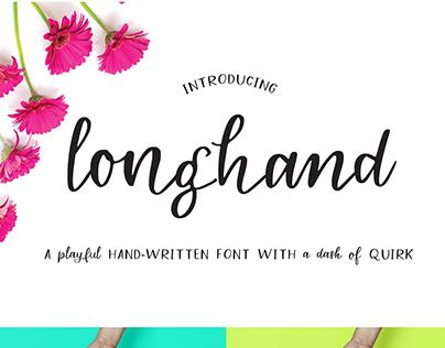 Longhand - a quirky handwritten font