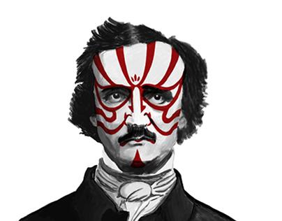 Edgar Allan Poe in a Kabuki Kumadori