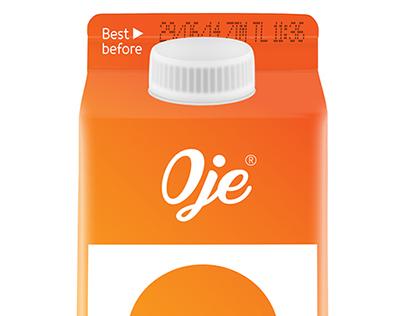 Minimal fruit juice cartons