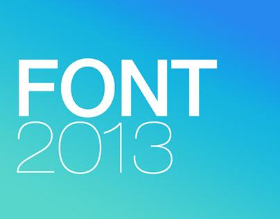 Font 2013