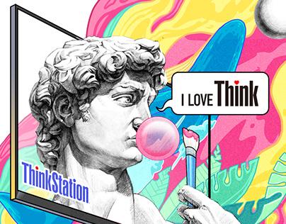 Art explosion for ThinkStation