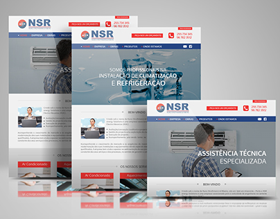 Layout do Website NSR