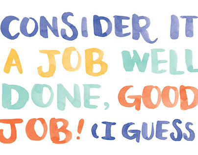 Consider It A Job Well Done - Congratulations Card