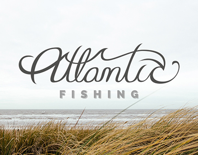 Atlantic Fishing logo script