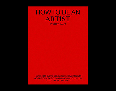 Secret Little Pages: How to be an Artist