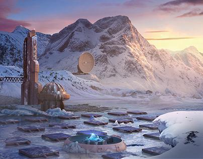 Arctic matte painting
