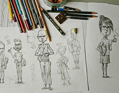 30 Character designs based on personality types
