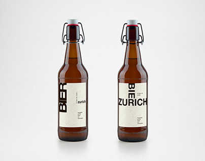Beer label Swiss style