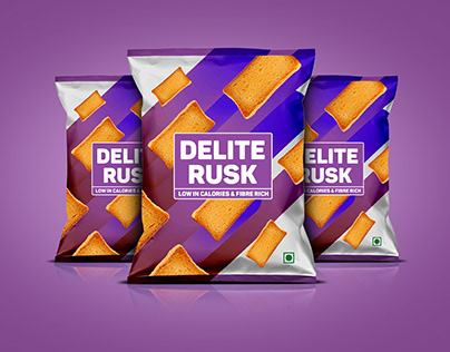 Simple Rusk package design