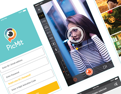 PicMit UI conceptual design