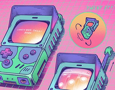 Synth Boy Twist   海報, 插畫, 設計