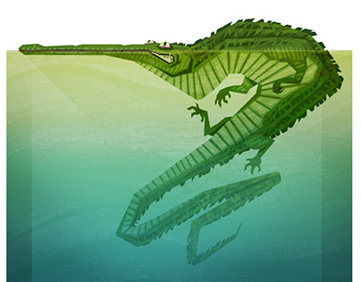 Crooked Crocodile Digital Illustration