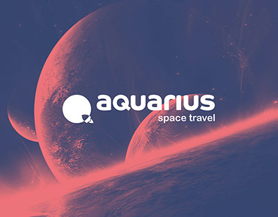 AQUARIUS SPACE TRAVEL Brand identity 2nd version